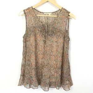 Anthropologie Tops - anthro FLOREAT Calla Floral Sleeveless Blouse Top